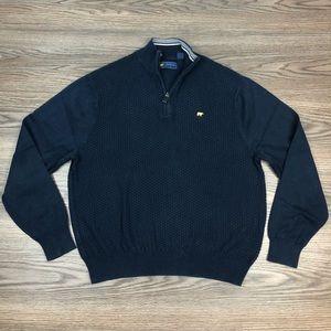 Jack Nicklaus Navy 1/4 Zip Sweater M